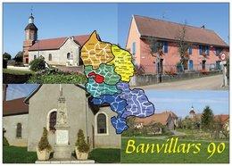 90 - Banvillars - 4 Vues - + Carte Géographique Du Territoire De Belfort - Cpm - Pas écrite - - Frankrijk