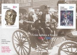 2002,  Tschechische Republik,Ceska 320/21 Block16, Tschechische Kultur Und Frankreich. MNH ** - Tschechische Republik