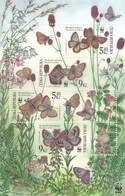 2002,  Tschechische Republik,Ceska 324/27 Block17, Naturschutz - Schmetterlinge. MNH ** - Repubblica Ceca