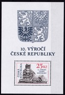 2003,  Tschechische Republik,Ceska 345 Block 18, 10 Jahre Tschechische Republik. MNH ** - Tschechische Republik
