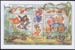2003,  Tschechische Republik, Ceska, 364/67 Block 19, Aquarienfische. MNH ** - Tschechische Republik