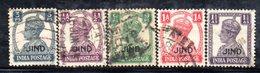 1081  490 - JHIND JIND INDIA , Cinque Valori Usati - Jhind