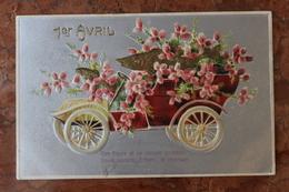 CARTE FANTAISIE - POISSON D'AVRIL / 1er AVRIL - CARTE GAUFREE - 1er Avril - Poisson D'avril