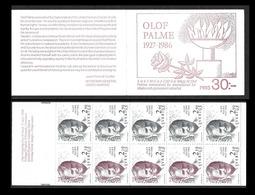 SUEDE 1986 - Carnet C1366 - Olof Palme - NEUF** - Carnets