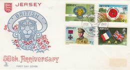 GOOD JERSEY FDC 1971 - British Legion - Jersey