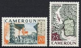 Cameroun, 1959, Agriculture, Banana Production, MNH, Michel 320-321 - Cameroun (1915-1959)
