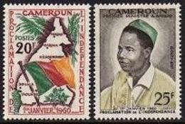 Cameroun, 1960, Independence, Flag, President, MNH, Michel 322-323 - Kamerun (1960-...)