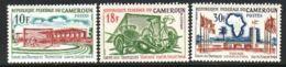 Cameroun, 1964, Sports, Tropics Cup, Soccer, Football, MNH, Michel 405-407 - Camerun (1960-...)