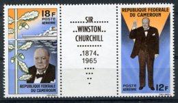 Cameroun, 1965, Sir Winston Churchill, MNH Strip, Michel 428-429 - Cameroon (1960-...)