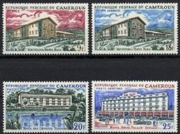 Cameroun, 1966, Hotels, Tourism, Architecture, MNH, Michel 453-456 - Kamerun (1960-...)