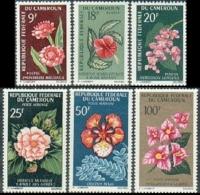 Cameroun, 1966, Flowers, Flora, Blossoms, MNH, Michel 463-468 - Camerun (1960-...)