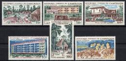 Cameroun, 1966, Hotels, Tourism, Architecture, MNH, Michel 469-474 - Camerun (1960-...)