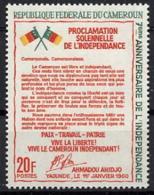 Cameroun, 1967, Independence, Declaration, MNH, Michel 494 - Cameroon (1960-...)