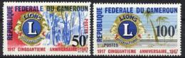 Cameroun, 1967, Lions International 50th Anniversary, MNH, Michel 497-498 - Camerun (1960-...)