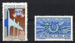 Cameroun, 1967, ICAO, Aviation, IAEA, United Nations, MNH, Michel 499-500 - Cameroun (1960-...)