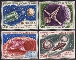 Cameroun, 1967, Space, Exploration Of The Moon, MNH, Michel 502-505 - Camerun (1960-...)