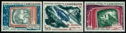 Cameroun, 1968, Space, Telecommunication Satellites, MNH, Michel 533-535 - Camerun (1960-...)