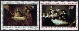 Cameroun, 1970, Rembrandt Paintings, Art, MNH, Michel 631-632 - Camerun (1960-...)