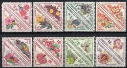 Cameroun, 1963, Postage Due, Flowers, Flora, Blossoms, Nature, MNH Triangle Pairs, Michel 35-50 - Kamerun (1960-...)