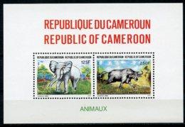 Cameroun, 1991, Elephant, Buffalo, Animals, Fauna, MNH, Michel Block 31 - Kameroen (1960-...)