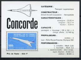 Cameroun, 1976, Concorde, Airplane, Aviation, MNH, Michel Block 10 - Camerun (1960-...)
