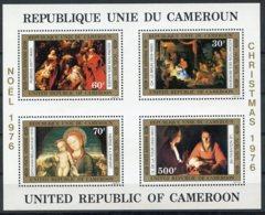 Cameroun, 1976, Christmas, Paintings, Rubens, Bellini, MNH, Michel Block 11 - Cameroun (1960-...)