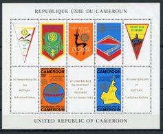 Cameroun, 1980, Rotary International, Maps, Emblems, MNH, Michel Block 17 - Kameroen (1960-...)