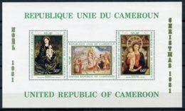 Cameroun, 1981, Christmas, Paintings, MNH, Michel Block 19 - Cameroon (1960-...)