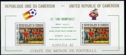 Cameroun, 1982, Soccer World Cup Spain, Football, MNH, Michel Block 20 - Kameroen (1960-...)