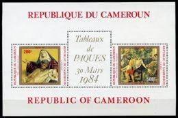 Cameroun, 1984, Easter, Paintings, Sculptures, MNH, Michel Block 22 - Cameroun (1960-...)