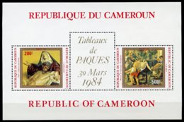 Cameroun, 1984, Easter, Paintings, Sculptures, MNH, Michel Block 22 - Kameroen (1960-...)