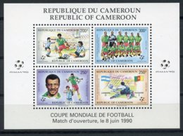 Cameroun, 1990, Soccer World Cup Italy, Football, MNH, Michel Block 25 - Kameroen (1960-...)