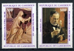 Cameroun, 1985, Louis Pasteur, Pigalle, Sculpture, MNH, Michel 1099-1100 - Camerun (1960-...)