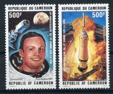 Cameroun, 1984, Space, Apollo, Armstrong, MNH, Michel 1064-1065 - Kamerun (1960-...)
