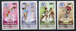 Cameroun, 1984, Olympic Summer Games Los Angeles, High Jump, Volleyball, Basketball, Cycling, MNH, Michel 1055-1058 - Kameroen (1960-...)