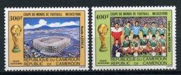 Cameroun, 1986, Soccer World Cup Mexico, Football, MNH, Michel 1119-1120 - Kameroen (1960-...)