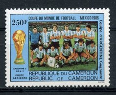 Cameroun, 1986, Soccer World Cup Mexico, Football, Argentina Champion, MNH, Michel 1130 - Kameroen (1960-...)