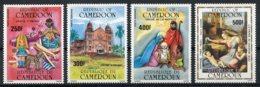 Cameroun, 1985, Christmas, Religion, Raffael Painting, MNH, Michel 1104-1107 - Kameroen (1960-...)