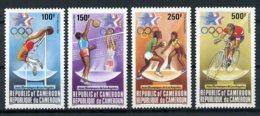 Cameroun, 1984, Olympic Summer Games Los Angeles, High Jump, Volleyball, Basketball, Cycling, MNH, Michel 1036-1039 - Kameroen (1960-...)