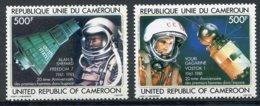 Cameroun, 1981, Space, Astronauts, Cosmonauts, MNH, Michel 957-958 - Kameroen (1960-...)