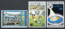 Cameroun, 1978, Soccer World Cup Argentina, Football, MNH, Michel 885-887 - Kameroen (1960-...)
