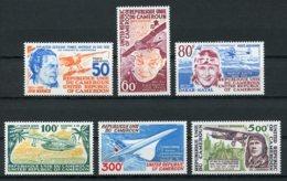 Cameroun, 1977, Aviation, Airplane, Concorde, Exupery, Lindbergh, MNH, Michel 843-848 - Cameroun (1960-...)