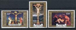 Cameroun, 1977, Easter, Paintings, Art, MNH, Michel 838-840A - Kameroen (1960-...)