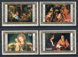 Cameroun, 1976, Christmas, Paintings, Rubens, Bellini, MNH, Michel 828-831 - Kameroen (1960-...)