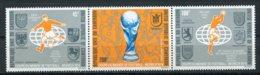 Cameroun, 1974, Soccer World Cup Germany, Football, MNH Strip, Michel 774-776 - Cameroon (1960-...)