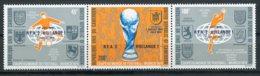 Cameroun, 1974, Soccer World Cup Germany, Football, MNH Overprinted Strip, Michel 777-779 - Cameroon (1960-...)