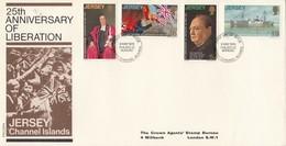 GOOD JERSEY FDC 1970 - 25th Anniversary Of Liberation - Jersey