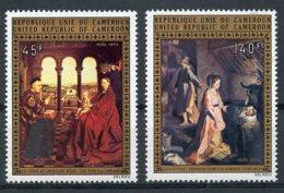 Cameroun, 1973, Christmas Paintings, Van Eyck, MNH, Michel 758-759 - Camerun (1960-...)