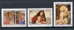 Cameroun, 1971, Christmas, Paintings, Raffael, MNH, Michel 675-677 - Camerun (1960-...)