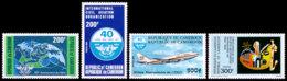 Cameroun, 1984, ICAO, International Civil Aviation Organization, Airplanes, United Nations, MNH, Michel 1069-1072 - Kamerun (1960-...)